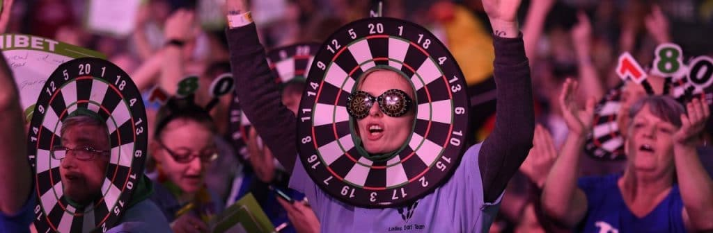 Pilkastning/darts/dart betting fans VM.
